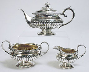 Scottish Georgian sterling silver tea set, Edinburgh