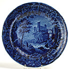 Enoch Wood historical blue plate, French Series