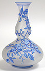 Thomas Webb English cameo glass gourd vase, three color