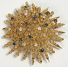 Tiffany and Co. 18Kt floral brooch, sapphires, diamonds