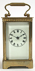 Vermont Clock Co. brass carriage clock, antique