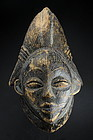 Black Tsangui Mask, Gabon, Punu Peoples