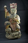 Statue of God Hung Hsien Tati, China, 19th C.