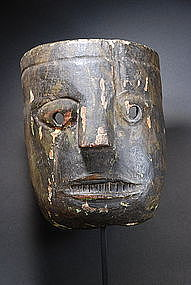 Highly Unusual Himalayan Mask, 19th C.