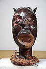 Important Helmet Mask, Ekoi Peoples, early 20th C.
