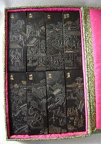A Group of Eight Antique Chinese Inksticks