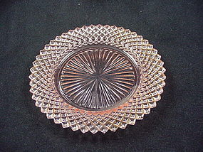 Miss America Sherbet Plate - Pink