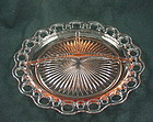 Old Colony Lace Edge Grill Plate - Pink