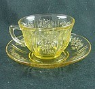 Sharon Cup & Saucer Set - Amber
