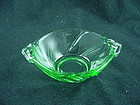 Heisey Twist  Individual Nut Dish - Moongleam Green