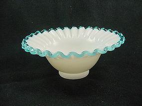 Fenton Aqua Crest Flared Bowl