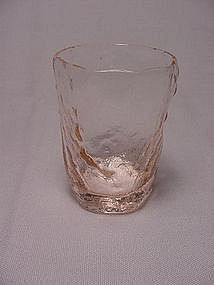 Morgantown Crinkle Rare Liquor Glass - Pink