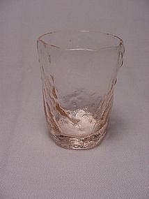Morgantown Crinkle Rare Liquor Glass - Pink