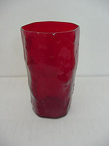 Morgantown Crinkle Juice Tumbler - Ruby