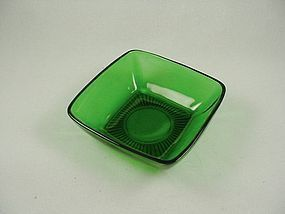FireKing Charm Dessert Bowl- Forest Green