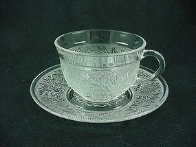 Sandwich Cup & Saucer - Hocking