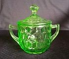Cube Large Sugar & Lid - Green