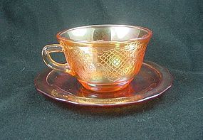 Normandie Iridescent Cup & Saucer Set