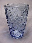 Consolidated Katydid Vase - Blue Crystal