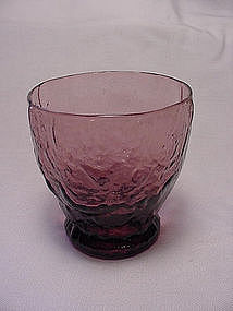 Morgantown Crinkle Cocktail Tumbler- Amethyst