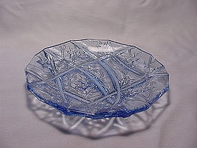 Consolidated Line 700 Bread Plate - Blue