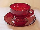 Moondrops Ruby Cup & Saucer Set