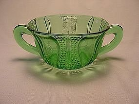 Tulip Sugar Bowl - Green