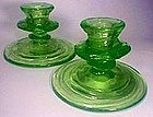 Consolidated Catalonian Emerald Candlesticks