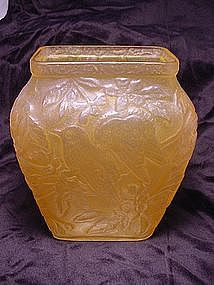 Consolidated Glass Chickadee Vase - Honey