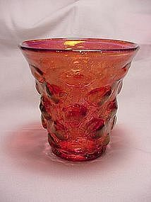 Consolidated Catalonian Ruby Wash Sweet Pea Vase