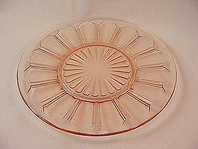 Colonial Knife & Fork Pink Luncheon Plate