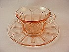 Colonial Knife & Fork Pink Cup & Saucer Set