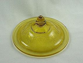 Patrician Spoke Cookie Jar Lid - Amber