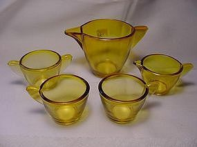 Akro Agate Large Stippled Band Toy Dishes