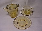 Akro Agate Small Stippled Band Toy Dishes