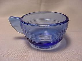 Akro Agate Concentric Ring Cup - Trans Blue