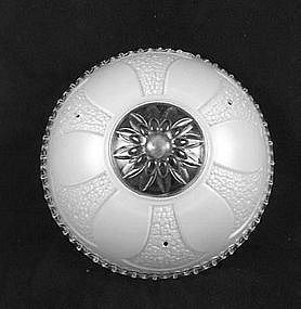 Bead Chain Ceiling Shade & Fixture - White Daisy
