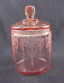 Cambridge Cleo Rare Cigarette Jar & Cover - Pink