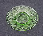 Floral Poinsettia Bread & Butter Plate - Green