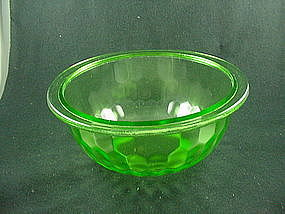 Hex Optic 9 Inch Flat Rimmed Mixing Bowl - Green