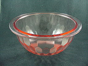 Hex Optic 10 Inch Flat Rimmed Mixing Bowl - Pink
