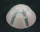 Bead Chain Ceiling Shade & Fixture - Pink Feathers