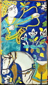 PERSIAN SAFAVID PAIR OF TILES