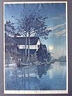 JAPANESE WOODBLOCK  HASUI 1930