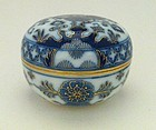 Meissen late 19th century round box