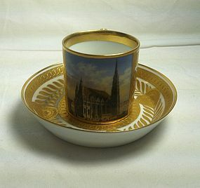 Vienna cabinet cup and saucer c.1900