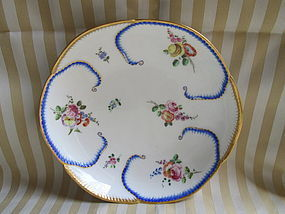 """Sevres salad bowl """"feuille de choux"""" 1758"""