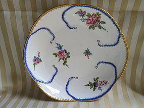 """Sevres salad bowl """"feuille de choux"""" 1763"""