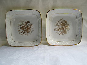 Spode bat printed serving bowls c. 1814