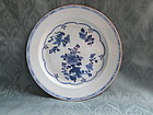 A blue & white Chinese export plate 18th century